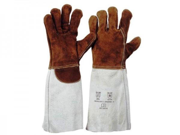 5-Finger Sebatanleder-Handschuh 1232, Länge 35 cm