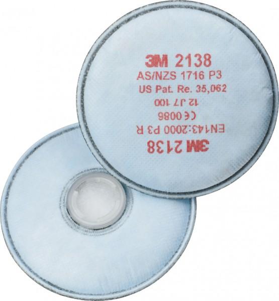 """3M 2138 P3R+ Aktivkohle Partikelfilter """"für Serie 6000, 7000 & 7500"""""""