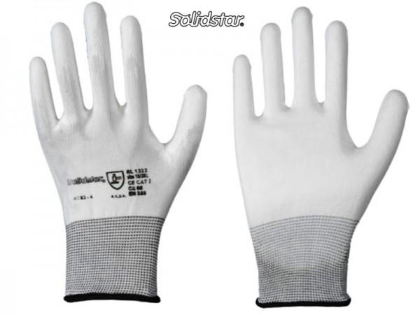 Solidstar 1322 Feinstrick-Handschuh mit PU-Beschichtung weiß (12 Paar)