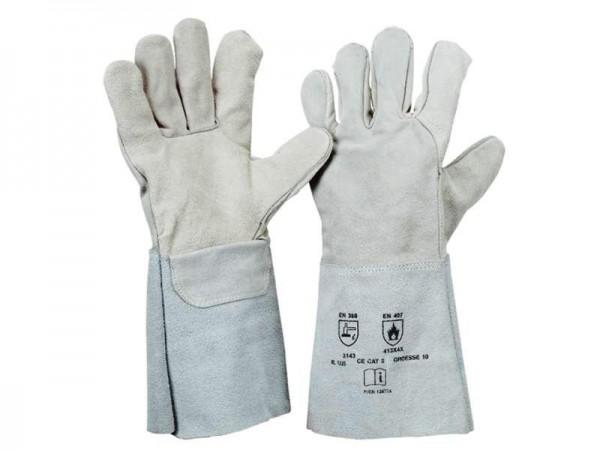5-Finger Spaltleder Handschuh 1225, Länge 35 cm