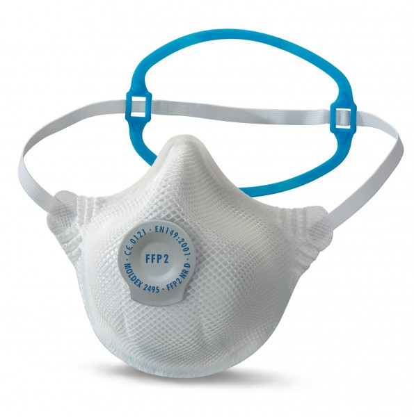 Moldex Smart Solo 2495 FFP2 Atemschutzmaske mit SoloBand® mit Klimaventil® (20 Stück Verpackung)