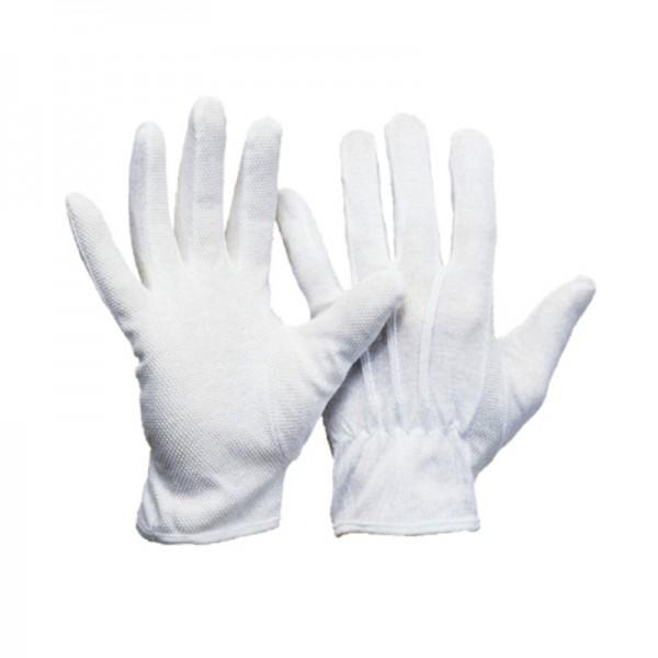 Baumwoll-Trikot Handschuhe 1295, Polyamid-Baumwolle, mit Micro-Bepunktung (12 Paar)