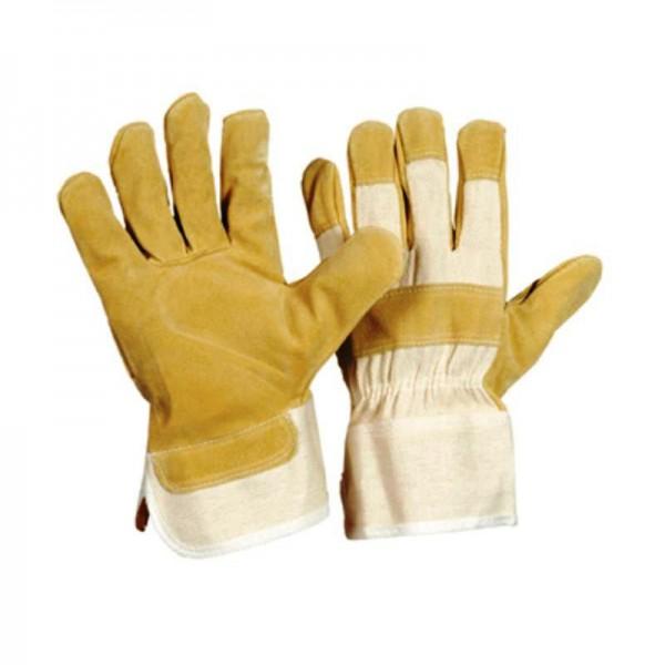 Schweinsspaltleder-Handschuhe 1113, 88 PBWA-TOP, gelb, gefüttert