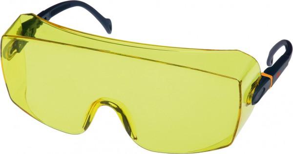 3M 2802 Schutzbrille AS, UV, PC gelb getönt über Korrektionsbrillen und/oder für Besucher