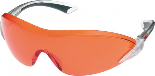 3M 2846 Schutzbrille AS/AF/UV, PC, orange getönt einstellbare Bügellänge und -neigung,[ae]softe Büge