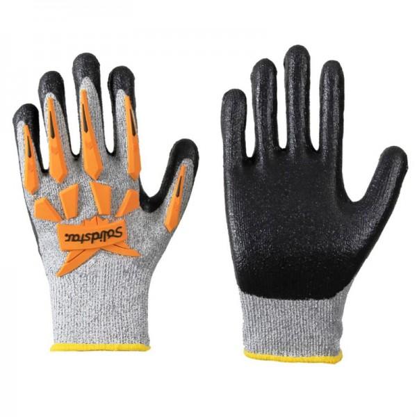 Solidstar Schnittschutz Handschuh 1445 Nitril + Protektoren, Level 5