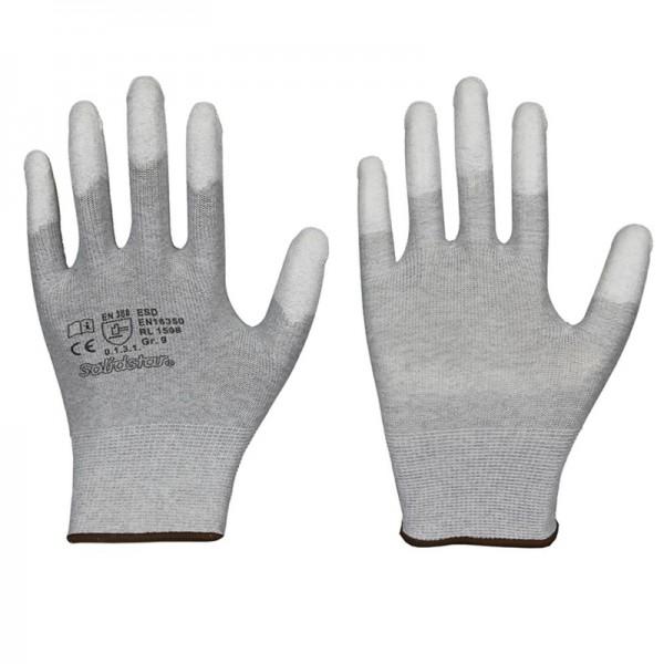 Solidstar ESD Antistatik-Handschuhe 1598, Fingerkuppen mit PU-Beschichtung