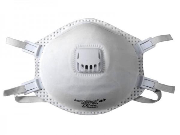 Leikatech Air 6676 FFP3 Atemschutzmaske mit Ausatemventil (5 Stück Verpackung)