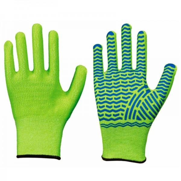 Solidstar Schnittschutz-Handschuh Neon/Grip 1447, Level 5, Latex Grip