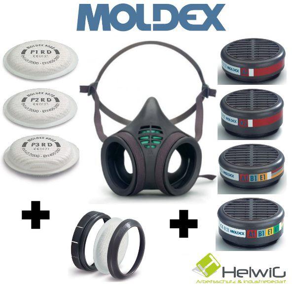 Moldex Atemschutzmaske zusammenstellen (1 Stück) alle Filtervariationen