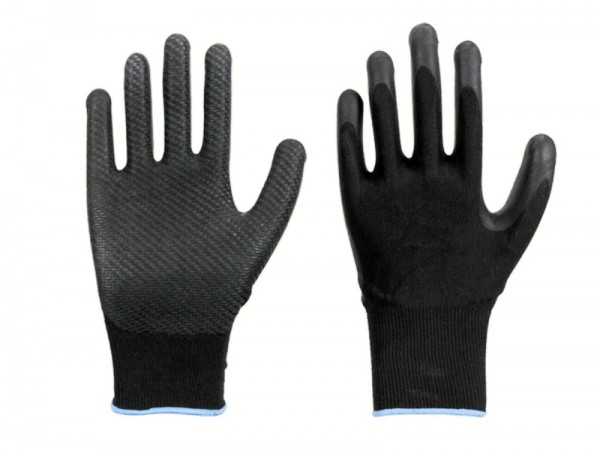 LeiKaFlex Ribbed-Grip Hochelastischer Polyester-Feinstrick-Handschuh 1485