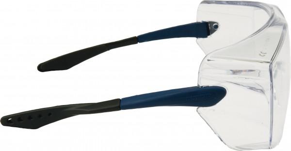 3M OX3000 Schutzbrille DX/UV, PC, klar Rahmen blau