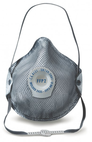Moldex Smart 2435 FFP2 NR D Spezial Atemschutzmaske gegen belästigende Gerüche und saure Gase Kl
