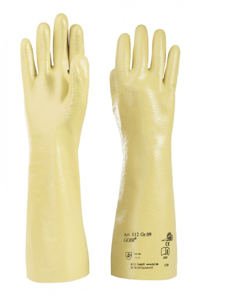 KCL 112 Gobi Schutzhandschuhe komplett beschichtet, extra lang 400mm (10 Paar)