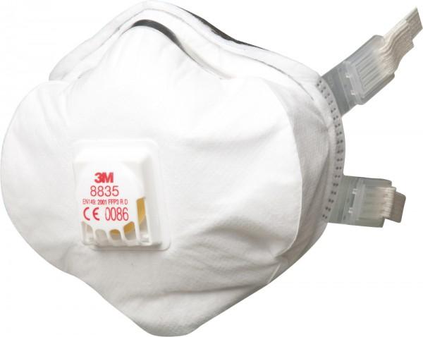 3M 8835 Atemschutzmaske FFP3 RD mit Cool Flow Ausatemventil (5 Stck. Packung)