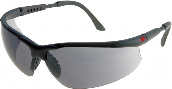 3M 2751 Schutzbrille AS/AF/UV, PC, grau getönt, einstellbare Bügellänge