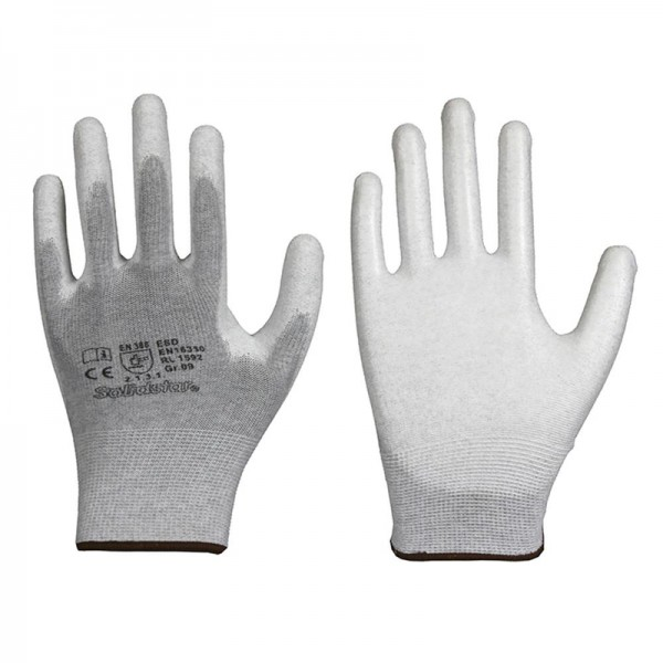 Solidstar ESD Antistatik-Handschuhe 1592, Innenhand mit PU-Beschichtung