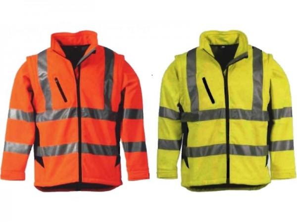 Leikatex Softshell-Warnschutzjacke nach EN 20471