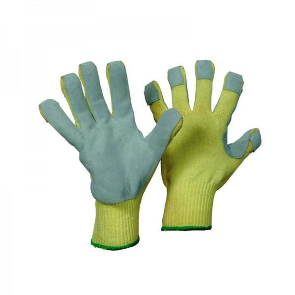KEVLAR/Strickhandschuh mit Spaltlederbesatz 1317 (Hitze- und Schnittschutz)