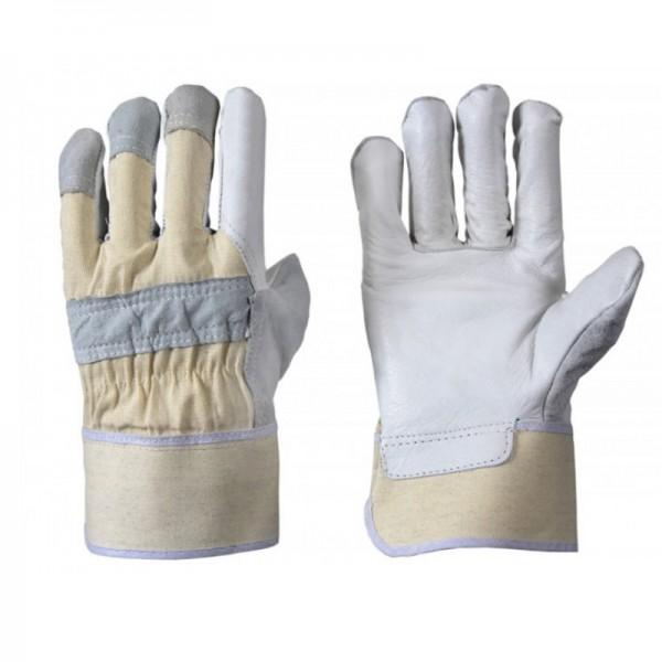 Büffelnarbenleder-Handschuh 1338, gefüttert