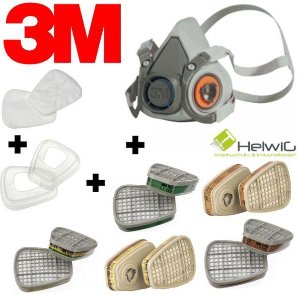 3M Atemschutzmaske zusammenstellen (1 Stück) alle Filtervariationen
