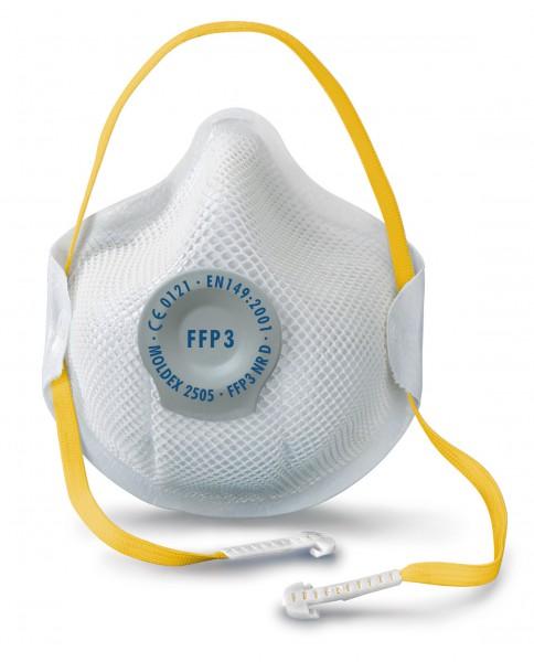 Moldex Smart 2505 FFP3 Atemschutzmaske mit Klimaventil® (10 Stück Verpackung)