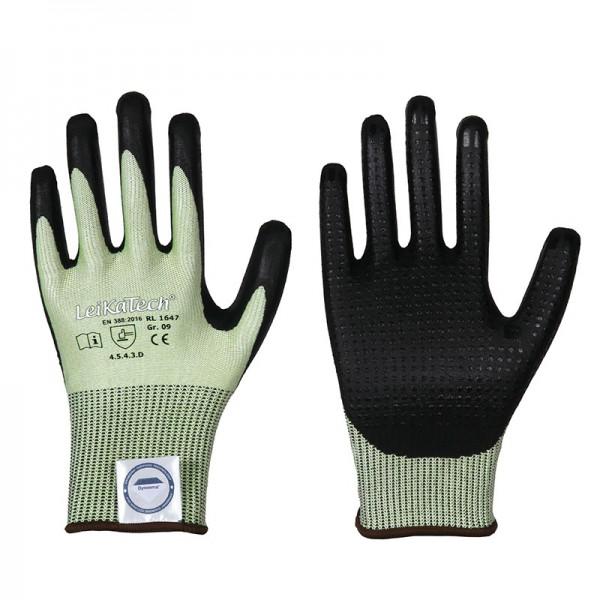 Dyneema Diamond Schnittschutz Handschuh 1647, Nitril, Level 5 mit Noppen
