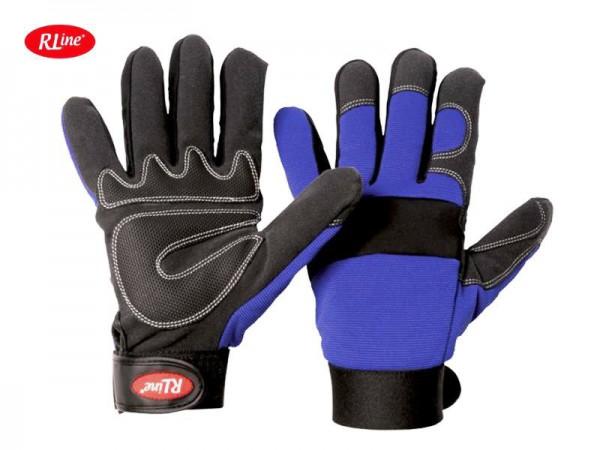 RLine Mec Blue Universeller Handschuh 1530, Synthetik-Leder in der Innenhand