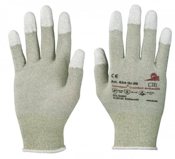KCL 624 Camapur Comfort Antistatik Schutzhandschuhe ESD zusätzlich fingerkuppenbeschichtet (10 Paar)