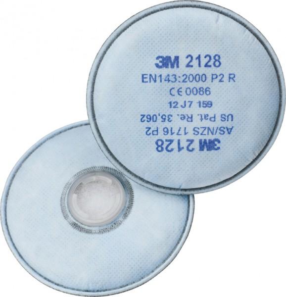 """3M 2128 P2R+ Aktivkohle Partikelfilter """"für Serie 6000, 7000 & 7500"""""""