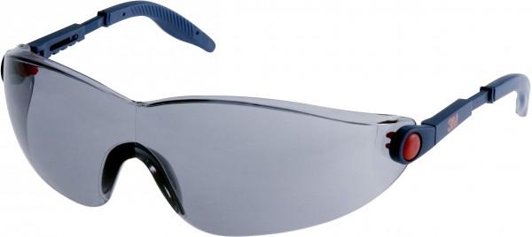 3M 2741 Schutzbrille AS/AF/UV, PC, grau getönt, einstellbare Bügellänge