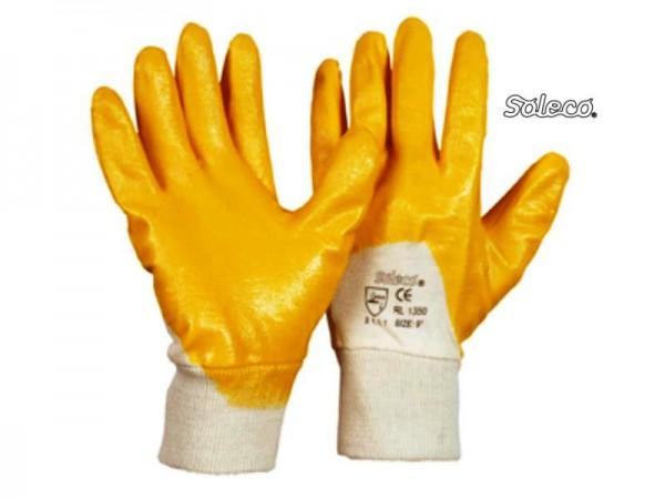 Soleco Strickbund Nitril gelb Handschuh 1350