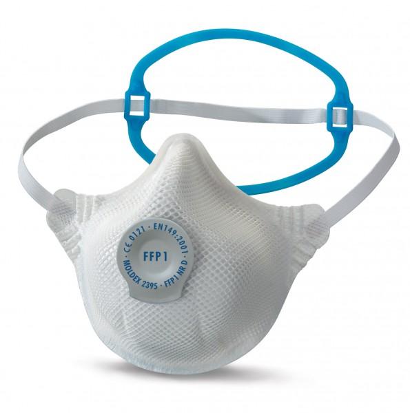 Moldex Smart Solo 2395 FFP1 Atemschutzmaske mit SoloBand® mit Klimaventil® (20 Stück Verpackung)